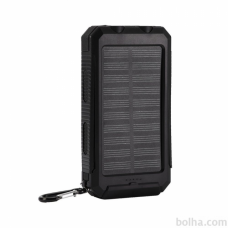 Power Bank solarni punjač 15.000 mAh + kompas