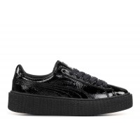 Puma Creeper Wrinkled Patent Crne 35,5