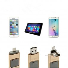 iFlash Memory Stick - USB za iPhone, iPad i Android 64GB, Gold